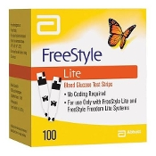 1 box FreeStyle Lite 100 Count Blood Glucose Test Strips